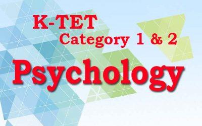 KTET   Category I   Category II   Psychology Chapter 42